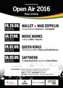 Open Air Burg Lemberg Flyer 2016